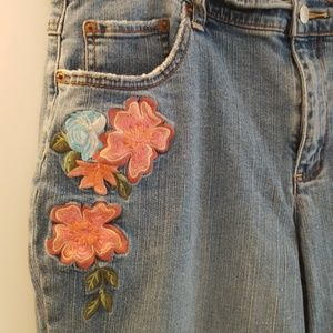 tint Jeans - TINT Womens Embroidered Blue Jean's Bootcut Sz 14